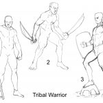 201005 Tribal_Warrior_Sketches